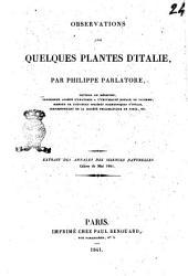 Observations sur quelques plantes d'Italie par Philippe Parlatore