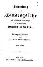 Sammlung der Landesgesetze für das Erzherzogthum Oesterreich ob der Enns: Volume 20