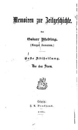 Memoiren zur Zeitgeschichte PDF