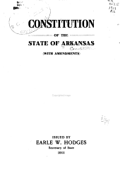 Constitution of the State of Arkansas (with Amendments)