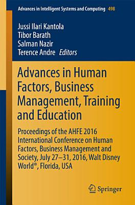 Advances in Human Factors  Business Management  Training and Education