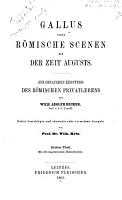 Gallus  oder rom  ische Scenen aus der Zeit Augusts PDF