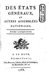 Des états généraux, et autres assemblées nationales