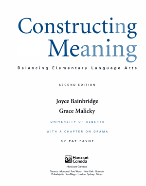 Constructing Meaning PDF