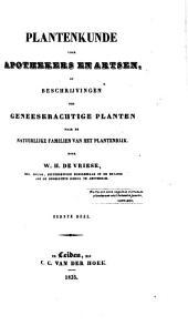 Plantenkunde voor apothekers en artsen of beschrijvingen der geneeskrachtige planten: Volume 1