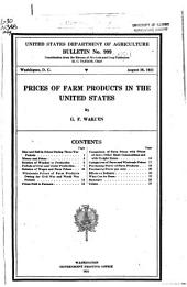 Prices of Farm Products in the United States
