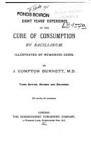 Eight Years Experience in the Cure of Consumption by Bacillinum PDF
