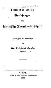 Vorlesungen über lateinische Sprachwissenschaft