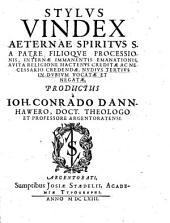 Stylus iuris aeternae Spiritus s. a Patre filiaque Processionis ...