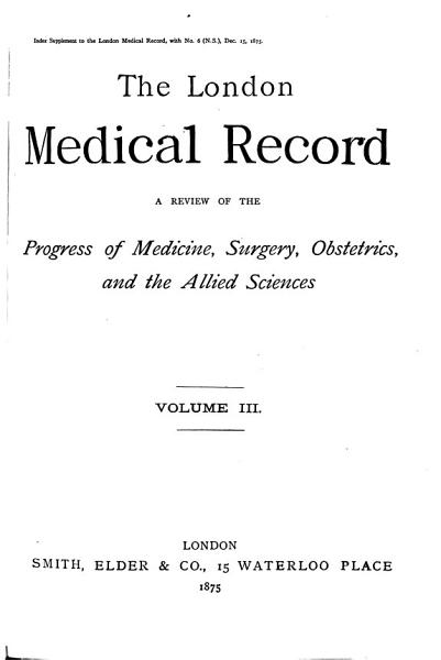 Download The London Medical Record0 Book