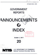 Government Reports Announcements   Index PDF