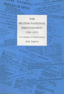 The History of the British National Bibliography PDF