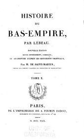 Histoire du Bas-Empire: Volume10
