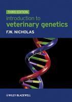 Introduction to Veterinary Genetics PDF