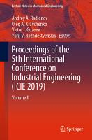 Proceedings of the 5th International Conference on Industrial Engineering  ICIE 2019  PDF