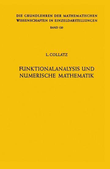 Funktionalanalysis und Numerische Mathematik PDF