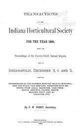 Transactions of the Indiana Horticultural Society ...: Volume 29