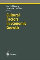 Cultural Factors in Economic Growth