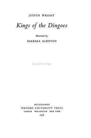 Kings of the Dingoes PDF