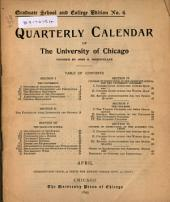 Quarterly Calendar: Issues 3-4