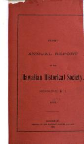 Annual Report of the Hawaiian Historical Society: Volumes 1-10