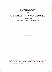 Anthology of German piano music: Volume 1