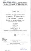Restructuring VA Medical Services PDF