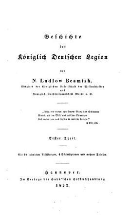 Geschichte der K  niglich Deutschen Legion PDF