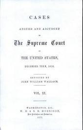 Cases Argued and Adjudged in the Supreme Court of the United States