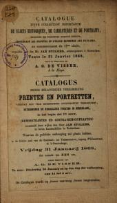Veilingcatalogus, boeken van Jan Stolker, 31 januari 1868