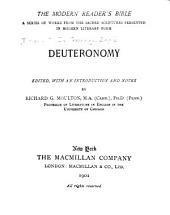 Deuteronomy: Volume 1