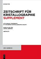 27th Annual Conference of the German Crystallographic Society  March 25 28  2019  Leipzig  Germany PDF