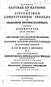 Divera naturae et rationis in civitatibus constituendis indoles e Graecorum historia illustrata