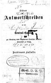 Offnes Antwortschreiben an das Central-Comité zur Berufung eines Allgemeinen Deutschen Arbeiter-Congresses zu Leipzig