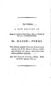Elfrida: A Dramatic Poem. Written on the Model of the Ancient Greek Tragedy. By W. Mason, M.A.