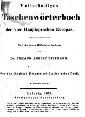 Vollständiges Taschenwörterbuch der vier Hauptsprachen Europas