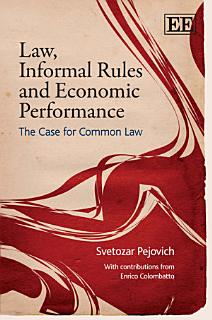 Law  Informal Rules and Economic Performance Book