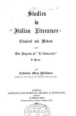 Studies in Italian Literature  Classical and Modern PDF