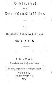 G.E. Lessings Trauerspiele und Nathan der Weise: ein dramatisches Gedicht