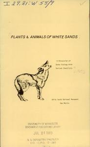 Plants   Animals of White Sands Book