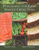 Purchasing for Food Service Operations Book
