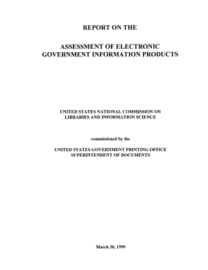 Report on the Assessment of Electronic Government Information Products PDF