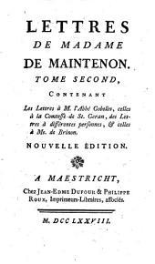 Lettres de madame de Maintenon v. 14-15. Lettres a madame de Maintenon