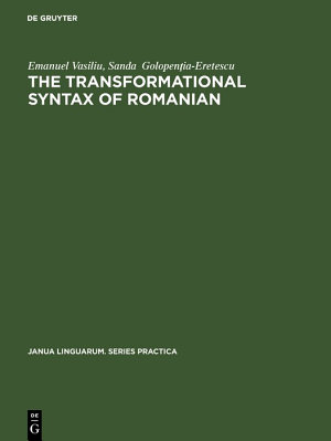 The transformational syntax of Romanian PDF