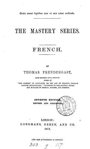 The Mastery Series  French