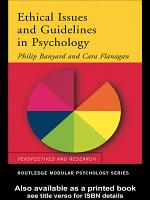Ethical Issues and Guidelines in Psychology PDF