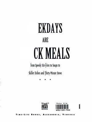 Weekdays are Quick Meals