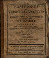 Positiones Ex Theologia Universa