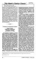 CURRENT CONTENTS: Arts & Humanities -- Volume 15, Number 6, March 15, 1993.