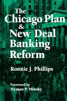The Chicago Plan and New Deal Banking Reform PDF